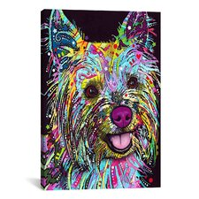 'Yorkie' by Dean Russo Graphic Art on Canvas