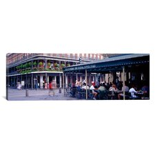 Panoramic Cafe Du Monde French Quarter New Orleans Photographic Print on Canvas