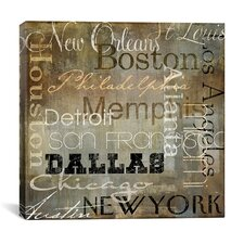 """Cities of The World I"" Canvas Wall Art from Color Bakery"