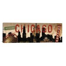 Decorative Art Sparx Studio Chicago Skyline I Vintage Advertisement on Canvas