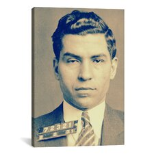 Charlie 'Lucky' Luciano - Gangster Mugshot Photographic Print on Canvas