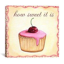 """""""Cherry Cupcake"""" Canvas Wall Art by Jennifer Nilson"""