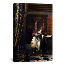 'Allegory of The Faith' by Johannes Vermeer Painting Print on Canvas
