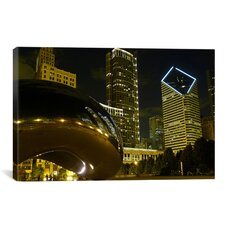 Chicago Cloud Gate Aka the Bean Cityscape Photographic Print on Canvas