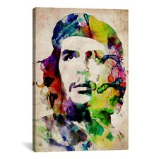 'Che Guevara Urban Watercolor' by Michael Tompsett Painting Print on Canvas
