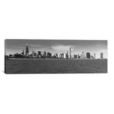 Panoramic Chicago Skyline Cityscape Graphic Art on Canvas