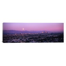 Panoramic Buildings in a City, Hollywood, San Gabriel Mountains, City of Los Angeles, California Photographic Print on Canvas