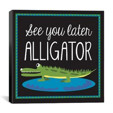 """Alligator"" Canvas Wall Art by Erin Clark"
