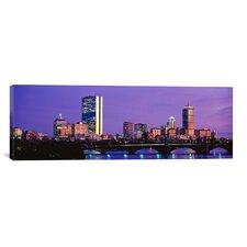 Panoramic Longfellow Bridge, Boston, Suffolk County, Massachusetts Photographic Print on Canvas