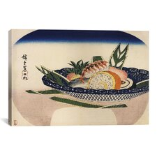 Ando Hiroshige 'Bowl of Sushi' by Utagawa Hiroshige l Graphic Art on Canvas