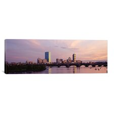 Panoramic Longfellow Bridge, Boston, Suffolk County, Massachusetts Photographic Print on Canvas