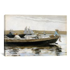 'Boys in a Dory' by Winslow Homer Painting Print on Canvas