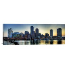 Panoramic Boston Skyline Cityscape Photographic Print on Canvas