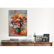 'Bouquet of Chrysanthemums, Circa 1884' by Pierre-Auguste Renoir Painting Print on Canvas