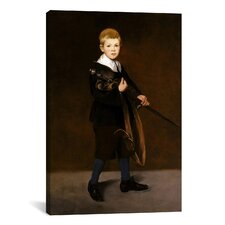 'Boy Carrying a Sword' by Edouard Manet Painting Print on Canvas