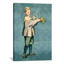 'Boy Carrying a Tray' by Edouard Manet Painting Print on Canvas