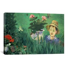 'Boy in Flowers' by Edouard Manet Painting Print on Canvas