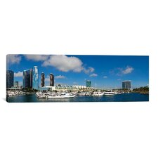 Panoramic Buildings in a City, San Diego Convention Center, Marina District, California Photographic Print on Canvas