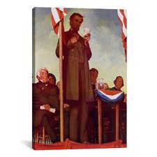 'Abraham Lincoln Delivering the Gettysburg Address' by Norman Rockwell Painting Print on Canvas