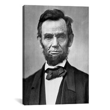 Political Abraham Lincoln Portrait Graphic Art on Canvas