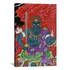 Acala (fudo) with Sword Japanese Woodblock Graphic Art on Canvas