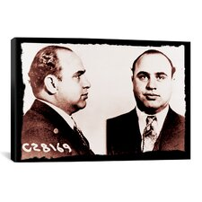 Alphonse Gabriel Al Capone Mugshot 2 - Chicago Gangster Outlaw Painting Print on Canvas
