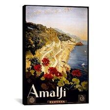 Amalfi Italia Vintage Advertisement on Canvas