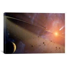 Astronomy and Space Asteroid Belt (Spitzer Space Observatory) Photographic Print on Canvas