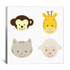 Kids Animal Farm III Graphic Art on Canvas