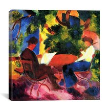 """At the Garden Table"" Canvas Wall Art by August Macke"