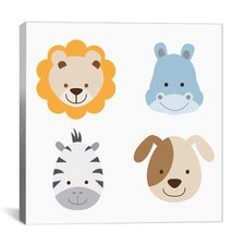 Kids Art Animal Farm II Graphic Canvas Wall Art
