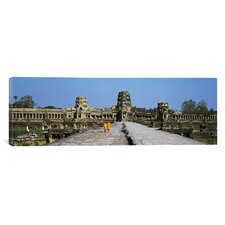 Panoramic Angkor Wat Cambodia Photographic Print on Canvas
