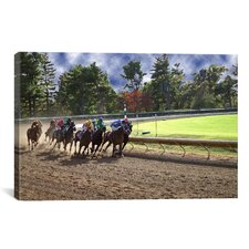 At the Race Track Photographic Print on Canvas