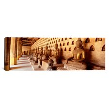 Panoramic Vat Si Saket, Vientiane, Laos Photographic Print on Canvas