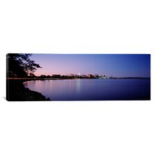 Panoramic Buildings along a Lake, Lake Monona, Madison, Wisconsin Photographic Print on Canvas