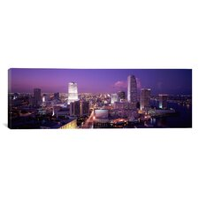 Panoramic High Angle View of a City, Miami, Florida Photographic Print on Canvas
