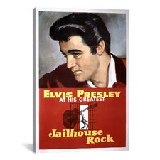 Jailhouse Rock - Scrubbed by Elvis Presley Graphic Art on Canvas