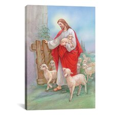 'Jesus Sheperd' by Christo Monti Painting Print on Canvas