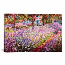 'Jardin De Giverny' by Claude Monet Painting Print on Canvas