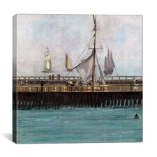 """Jetty at Boulogne"" Canvas Wall Art by Edouard Manet"