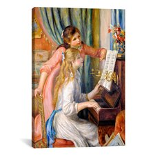 'Girls at The Piano' by Pierre-Auguste Renoir Painting Print on Canvas