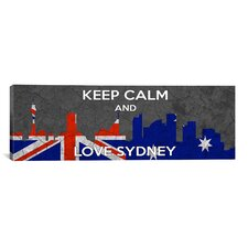 Keep Calm and Love Sydney Textual Art on Canvas