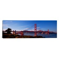Panoramic Golden Gate Bridge San Francisco, California Photographic Print on Canvas