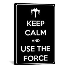 Keep Calm and Use The Force Textual Art on Canvas