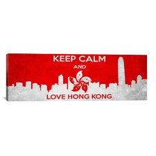 Keep Calm and Love Hong Kong Textual Art on Canvas