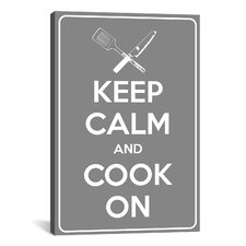 Keep Calm and Cook On Textual Art on Canvas