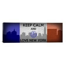 Keep Calm and Love New York Textual Art on Canvas