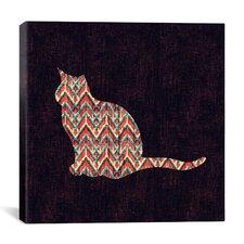 'Ikat Cat' by Budi Satria Kwan Graphic Art on Canvas