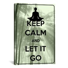 Keep Calm and Let It Go Textual Art on Canvas