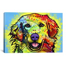 'Golden Retriever' by Dean Russo Graphic Art on Canvas